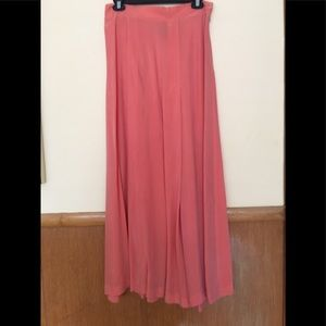 Dresses & Skirts - Pretty coral colored silky long skirt